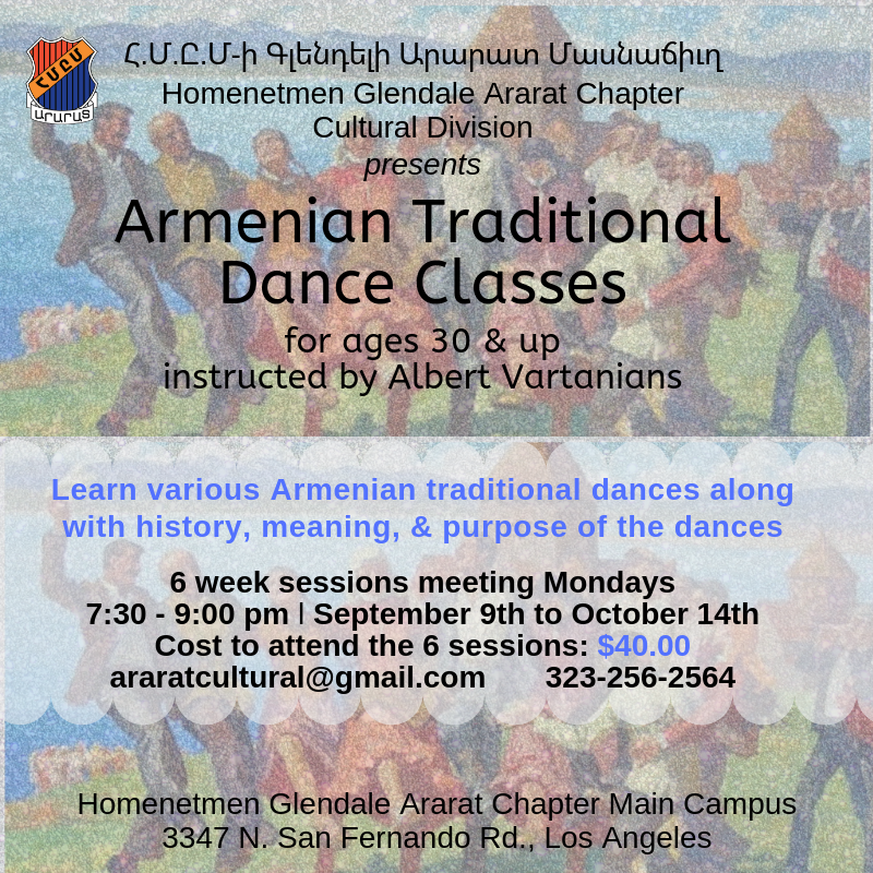Armenian Traditional Dance Classes - Շուրջպար [Ages 30+]