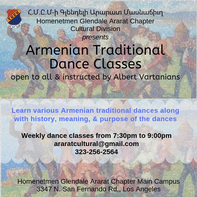 Armenian Traditional Dance Classes