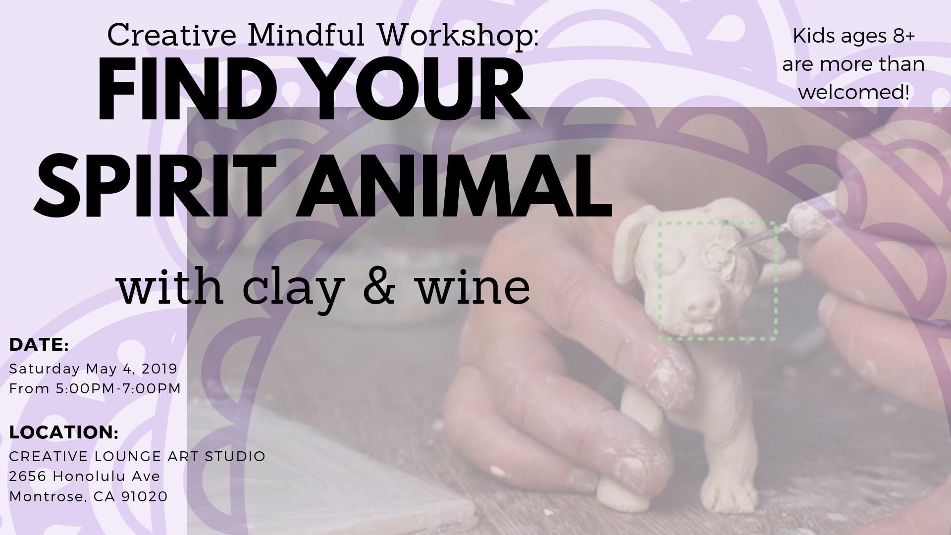 Creative Mindful Workshop: Clay Spirit Animal