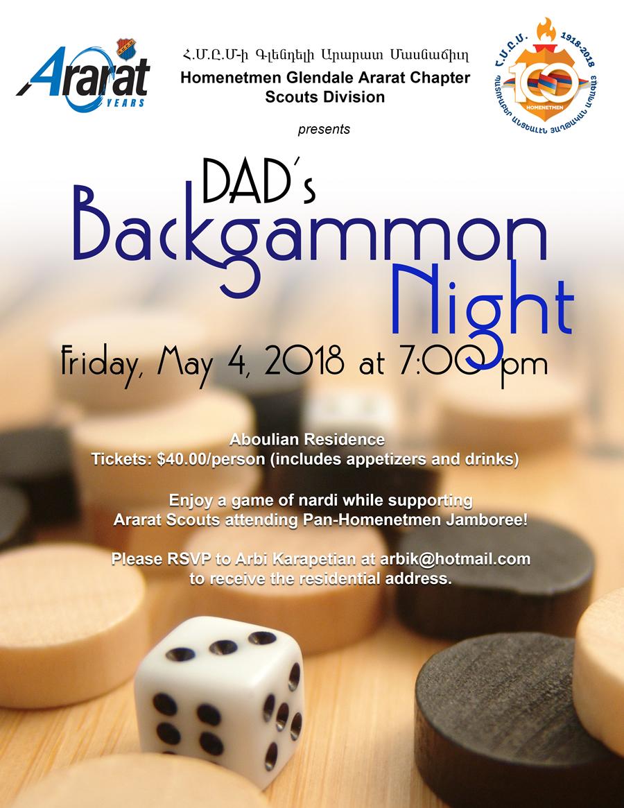Dad's Backgammon Night