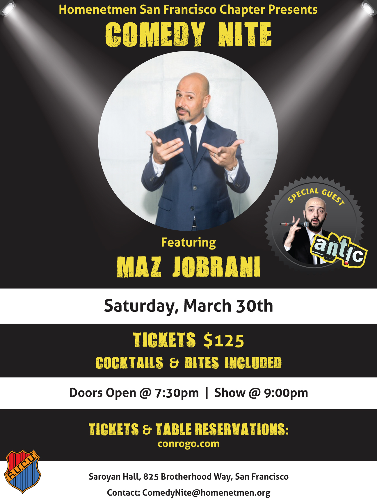 Maz Jobrani Comedy Nite with Special Guest Antic!