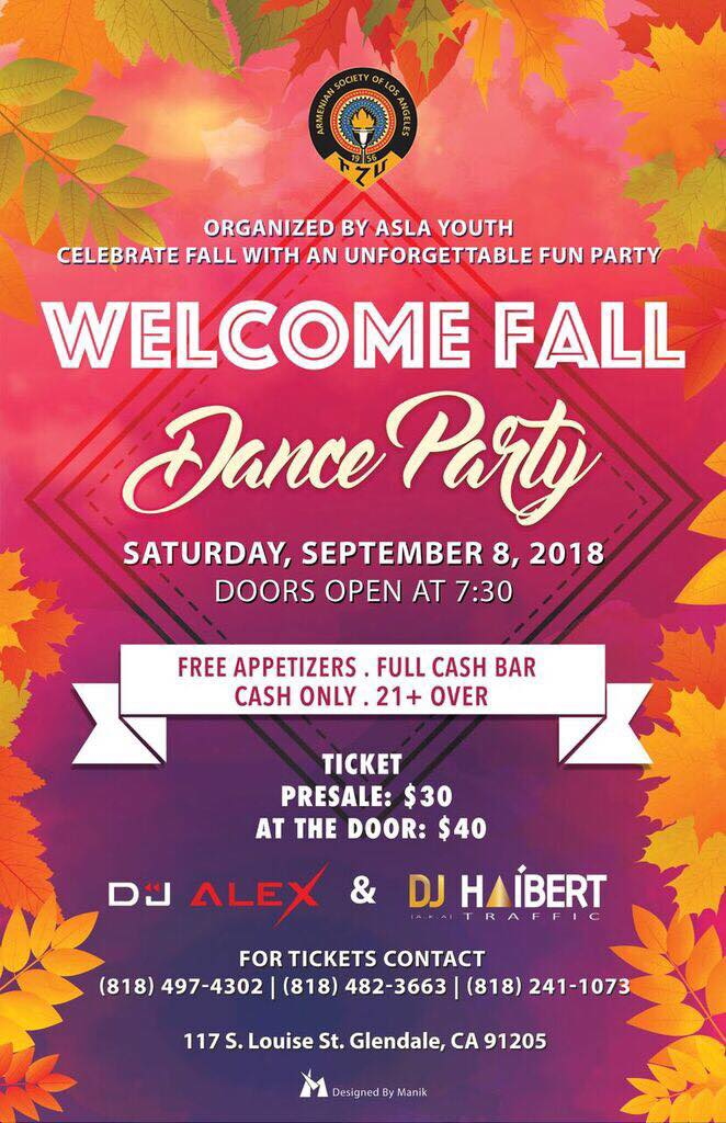 Welcome Fall Dance Party