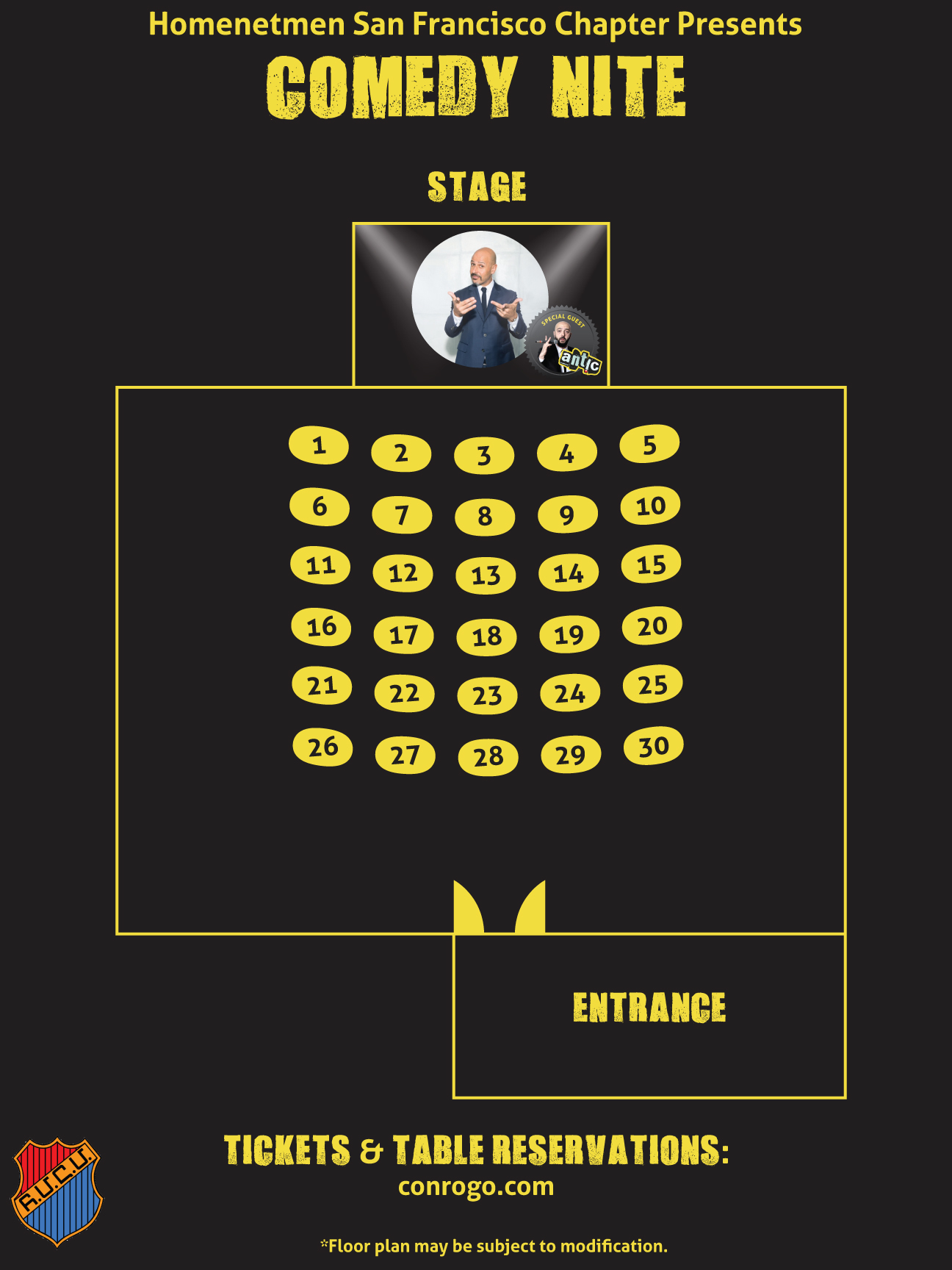 Maz Jobrani Comedy Nite with Special Guest Antic! seating plan